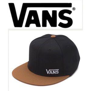 342d4560bb Vans Accessories - Vans Black Toffee Splitz Flat Peak Flexfit Cap S